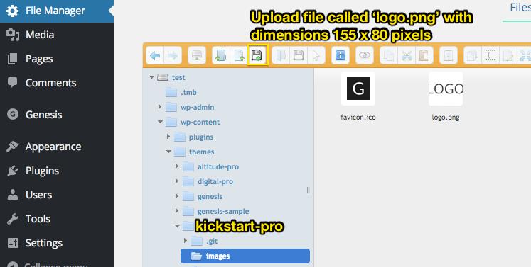 Header Setup (Title, Logo, Description & Menu) [Kickstart Pro